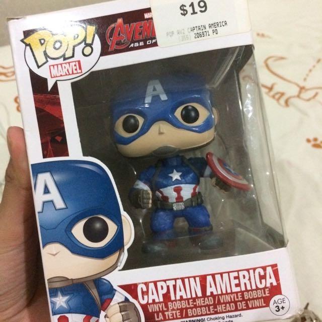 Funko Pop Captain America Bobble Head