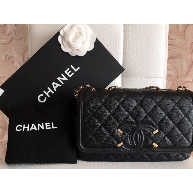 Chanel Small Filigree Caviar GHW #22