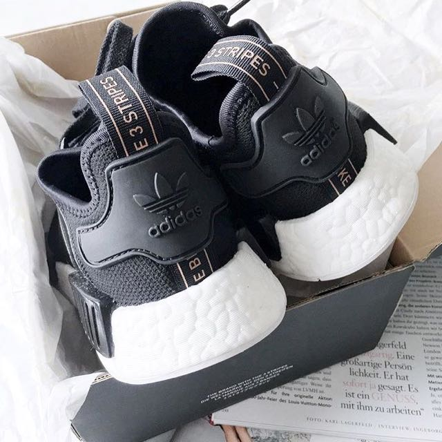 CHEAPEST  Adidas NMD R1 Patent Black Rose Gold 9d21cb0c9
