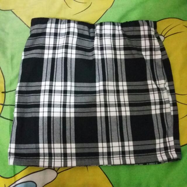 Checkerd Span Skirt