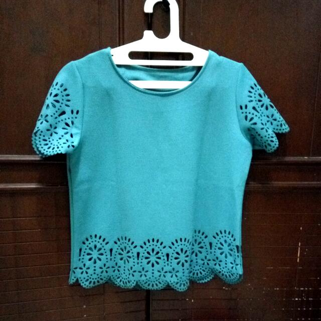Cutest Turquoise Blouse