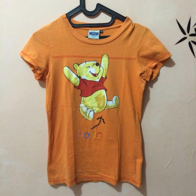 Disney Pooh Tshirt Orange