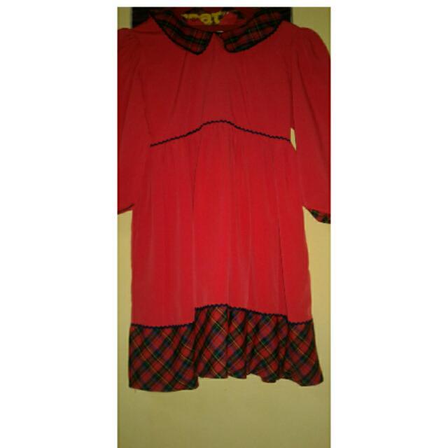 Dress Merah Kids
