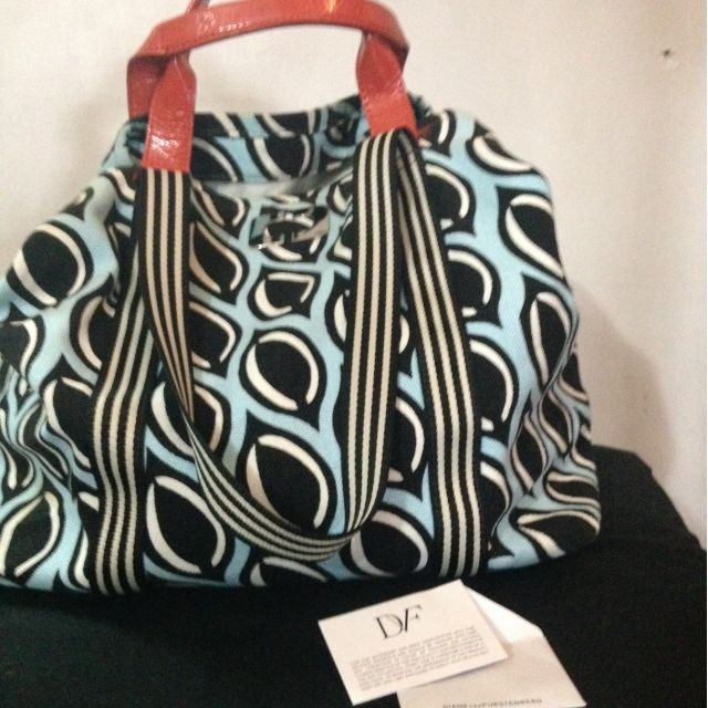 DVF canvas tote bag