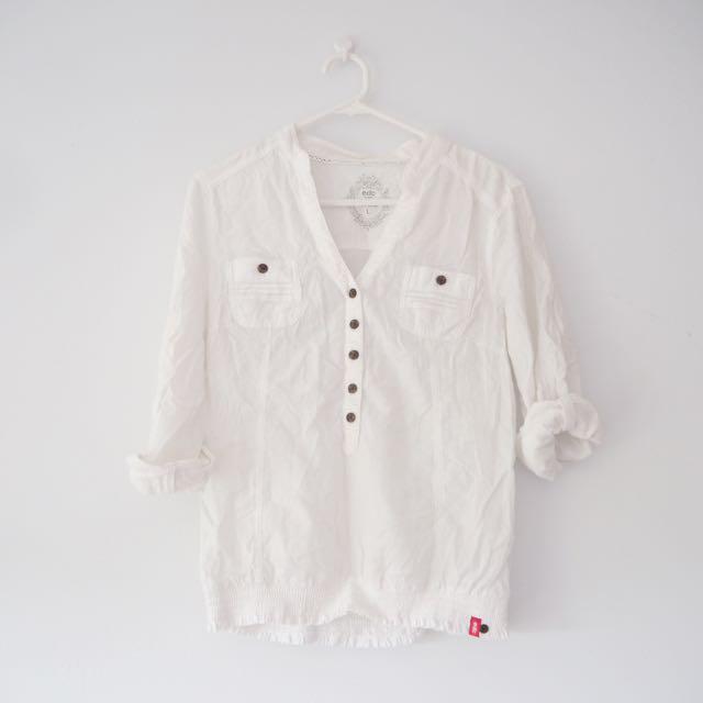 Esprit White Blouse L (AU8-10)