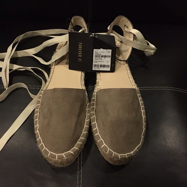 Forever 21 Lace Up Espadrilles