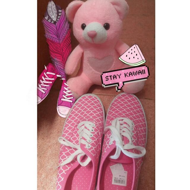 [Free Ongkir & Free Gift] Sepatu Wanita Pink (New)
