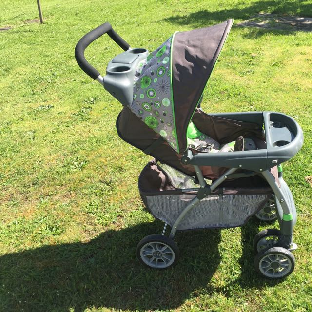Green And Grey Pram