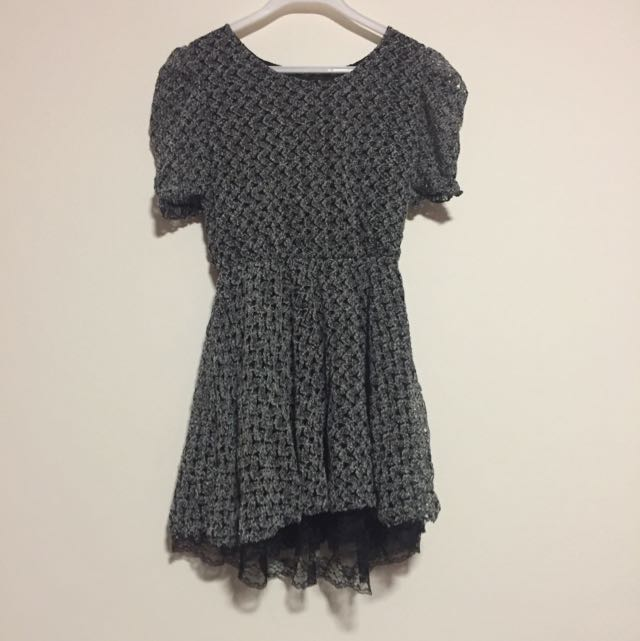 Grey Crochet Dress