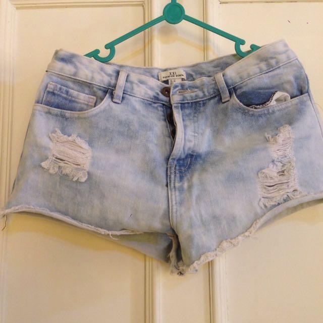 Hnm Premium Denim Shorts
