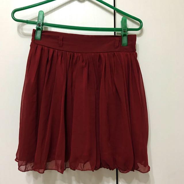 INGIN 紅色短裙