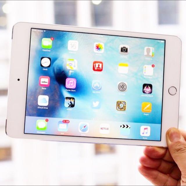 蘋果iPad Mini4 金/銀色128GB全新機種