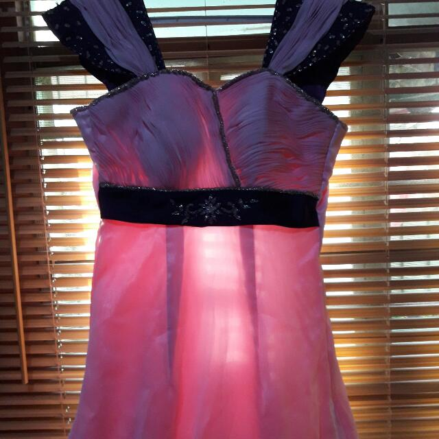 Lavender & Pink Gown