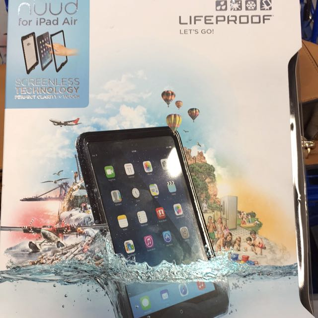 san francisco 2ee0a ed092 Lifeproof Nuud Case For iPad air (compatible For 1 And 2) Black color