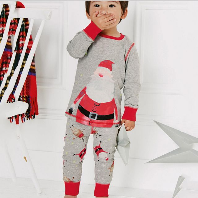 LM016 New Kids Girls Christmas X mas Santa Pajamas PJs Set Sleepwear ... 143729d3a