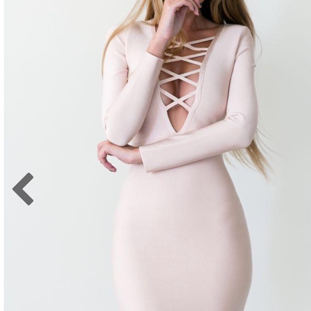 Midi Dress Bandage Material (12)