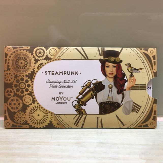 Moyou London Steampunk 蒸汽搖滾 02 齒輪 螺絲 指南針 美甲轉印 鋼板