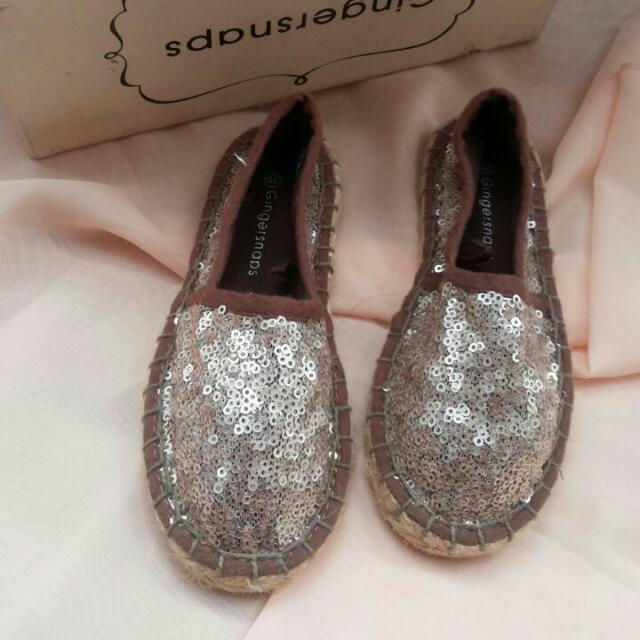 (NEW) Gingersnaps Sequinned Shoes (size 25cm)