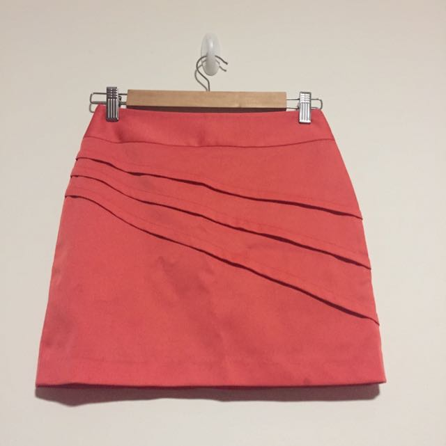 Orange/peach Work Skirt