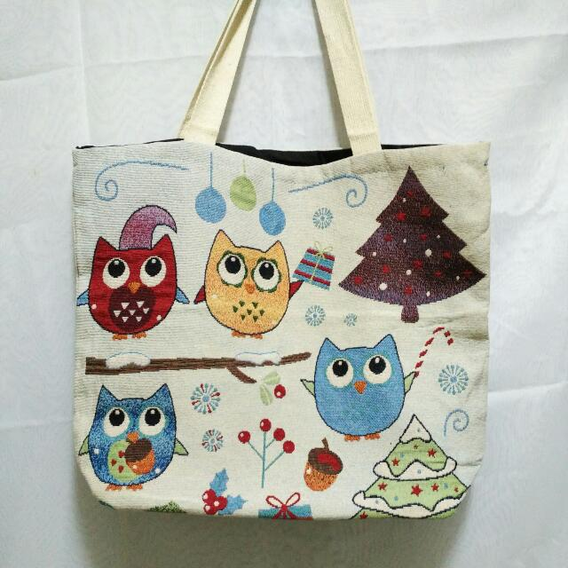 (New) Owl Tote Bag