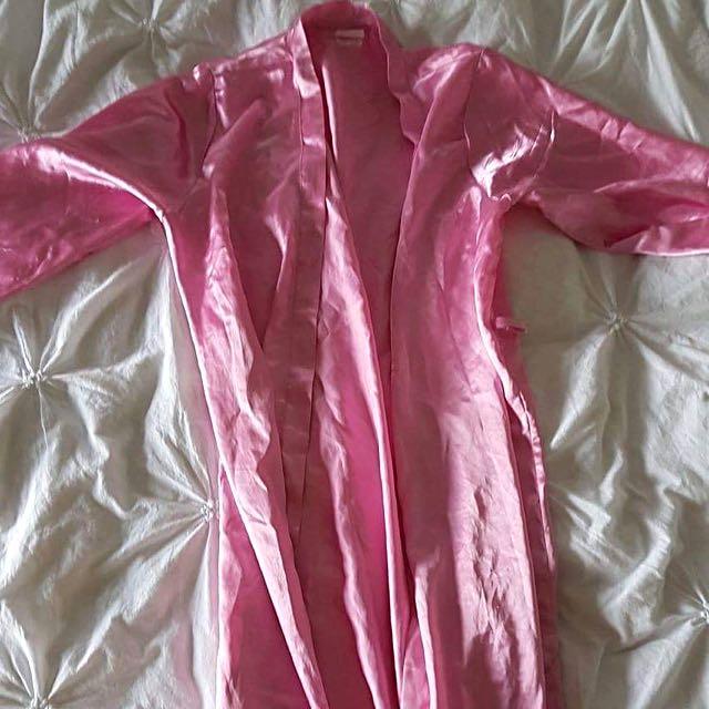 Pink Silk Robe