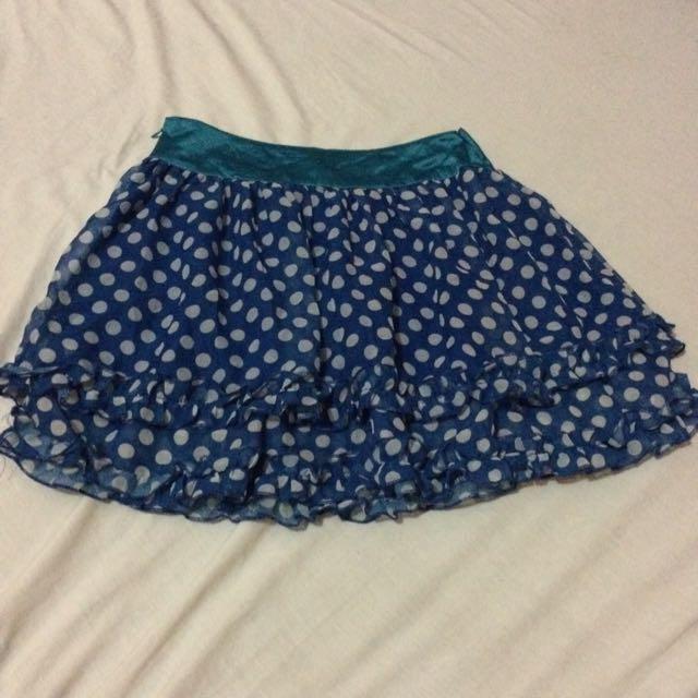 Polkadots Skirt(side Zipper)