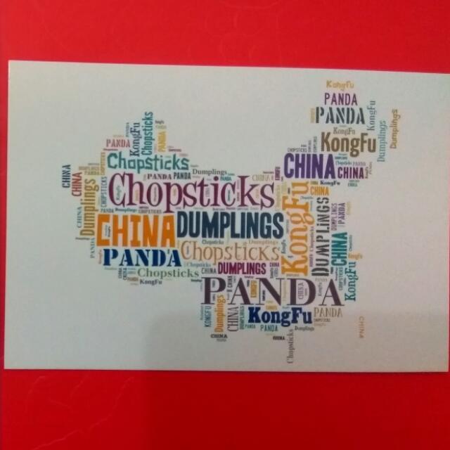 Postcard China Map