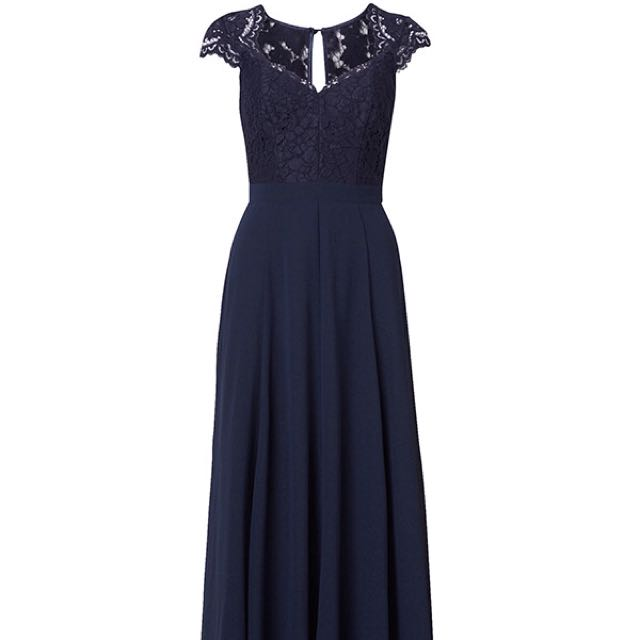 Review Aster Navy Formal Dress