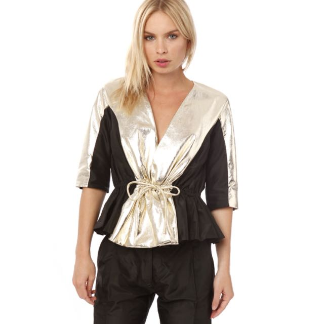 Sass & Bide Long-term Relationship Jacket Black And Gold