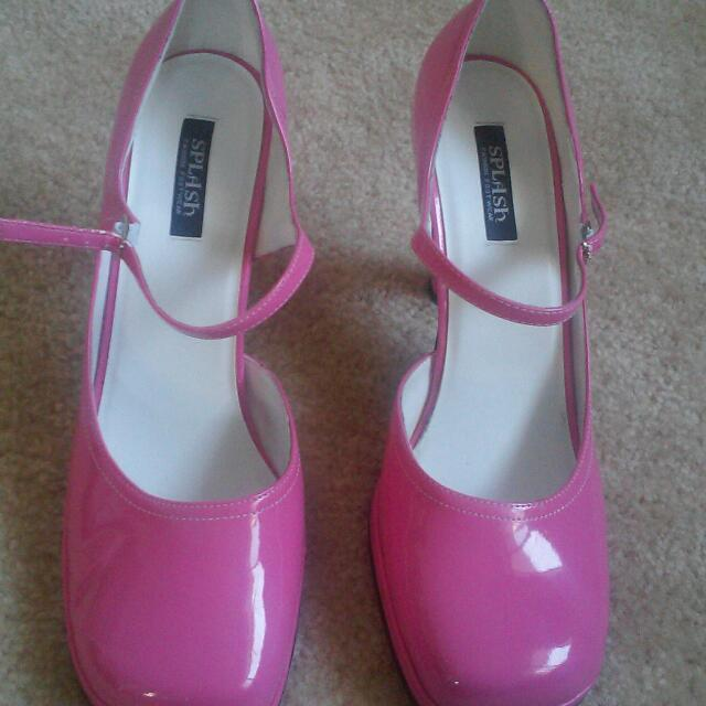 SIZE 10 .. Pink High Heels ..
