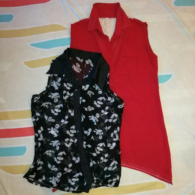 2 For 200 Office Sleeveless With Collar