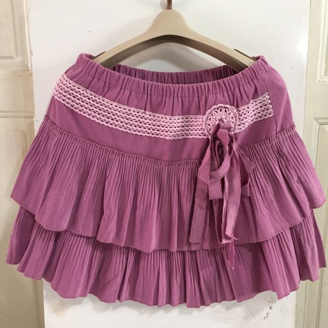 Suede Layered Skirt