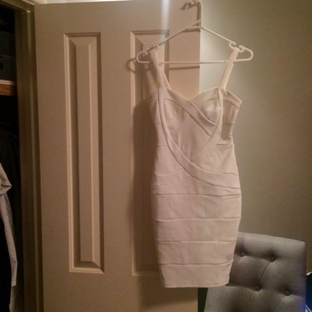 Tight Midi Dress - White