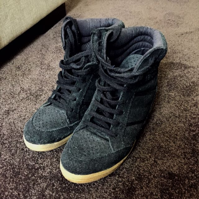 Topshop Sneakers With Wedge Heel