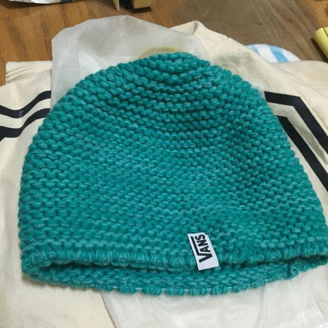 ✅✅VANS 藍綠色湖水綠針織毛帽👀