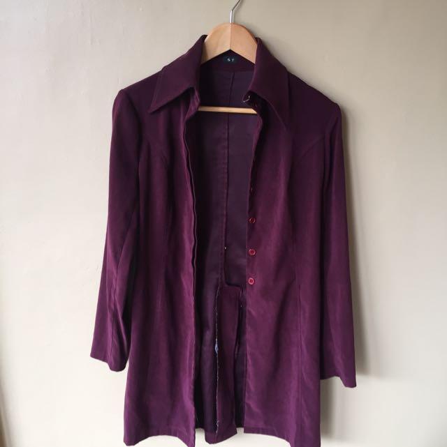 Velvet Long Coat