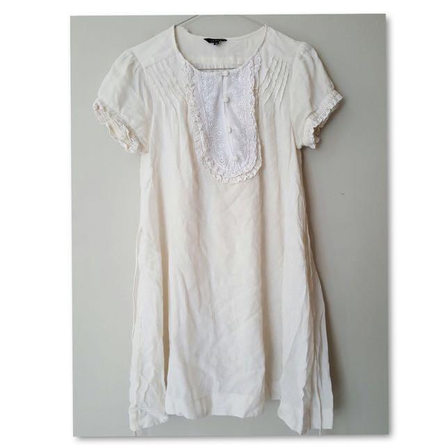 Victorian White Shift Dress