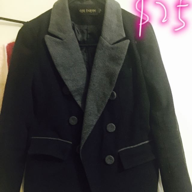womens black coat