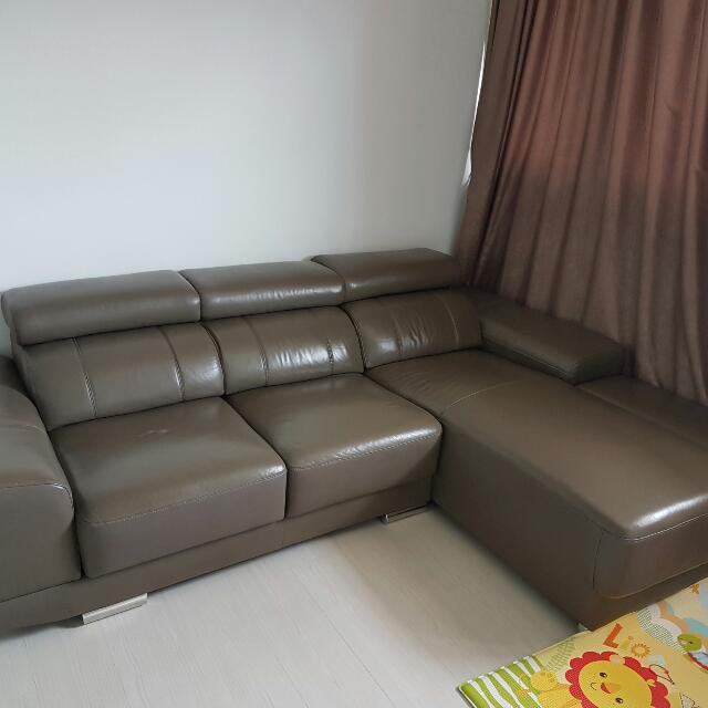 Zolano High Quality Leather L Shape Sofa Furniture Sofas On Carousell