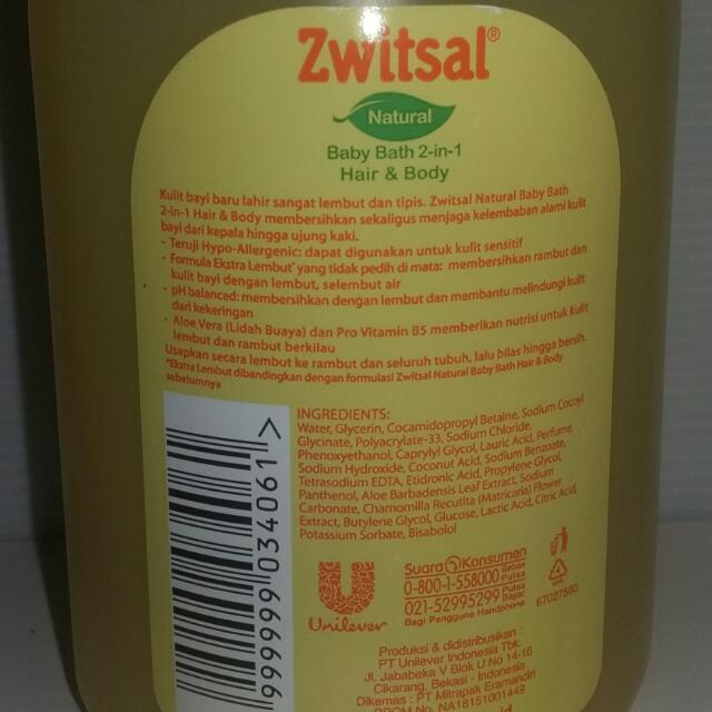ZWITSAL BABY BATH 2-in-1 HAIR & BODY- shampoo & bath NATURAL