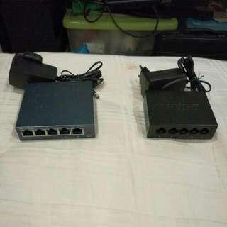 TP-Link & D-Link 5 Ports Gigabit Desktop Switch