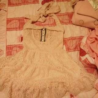 🌸日系 繃帶洋裝 蝴蝶結 超可愛