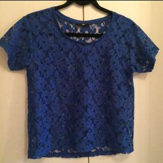 H&M Flower Lace Shirt