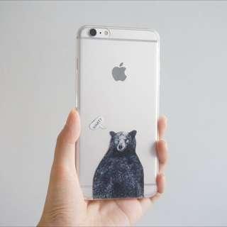 【原創】透明黑熊手機殼 Iphone case
