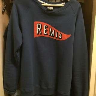 二手美品 Remix 大學T m號