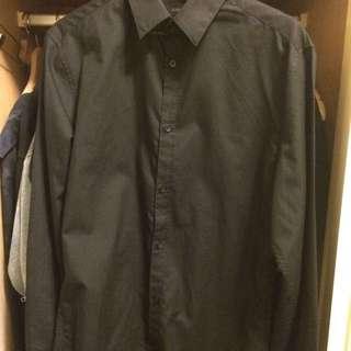 二手美品 H&M 全黑襯衫