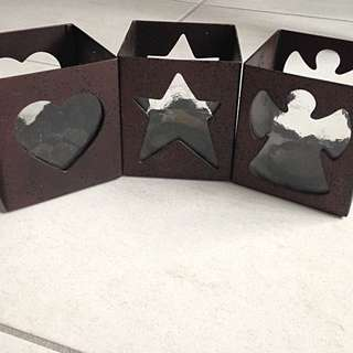 Angle, Star And Heart Shaped Candle Boxs