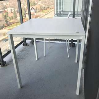 80*80 Table With Two White Chairs $20