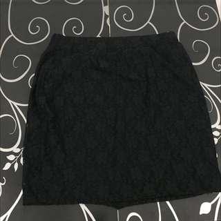 Preloved Floral Laced Skirt