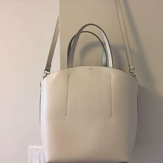 NEW WHITE ZARA BAG WITH REMOVABLE POUCH